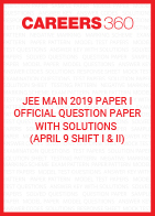 JEE Main 2019 Paper 1 Official Question Paper with Solutions - April 9