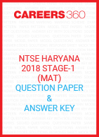 Haryana NTSE Stage 1 Question Papers 2018 (MAT)