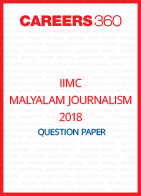 IIMC Malayalam Journalism Question Paper 2018