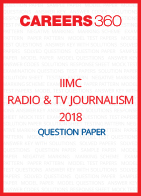 IIMC Relation and TV Journalism Question Paper 2018