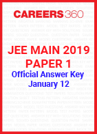 JEE Main 2019 Paper 1 Official Answer Key - January 12