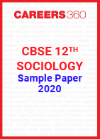 CBSE Class 12 Sociology Sample Paper 2020