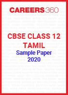 CBSE Class 12 Tamil Sample Paper 2020