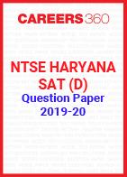 NTSE Haryana SAT (D) Question Paper 2019-20