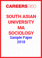 South Asian University MA Sociology Sample Paper 2018