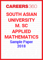 South Asian University M. Sc. Applied Mathematics Sample Paper 2018