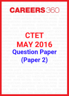 CTET 2016 Question Paper – May (Paper 2)