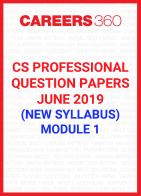 CS Professional Question Papers June 2019 (New Syllabus) Module 1