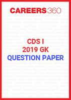 CDS I GK Question Paper 2019