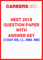NEET 2018 Question Paper with Answer Key (Code KK, LL, MM, NN)