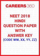 NEET 2018 Hindi Question Paper with Answer Key (Code WW, XX, YY, ZZ)