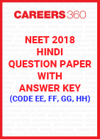NEET 2018 Hindi Question Paper with Answer Key (Code EE, FF, GG, HH)