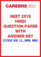 NEET 2018 Hindi Question Paper with Answer Key (Code KK, LL, MM, NN)