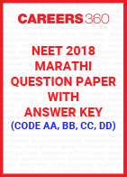 NEET 2018 Marathi Question Paper and Answer key (code AA, BB, CC, DD)