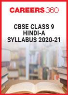 CBSE Class 9 Hindi-A Syllabus 2020-21