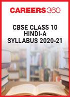 CBSE Class 10 Hindi-A Syllabus 2020-21