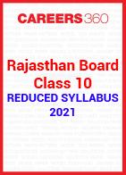 Rajasthan Board Class 10 Reduced Syllabus 2021
