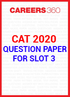 CAT 2020 Question Paper for Slot 3