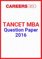 TANCET MBA Question Paper 2016