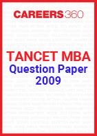 TANCET MBA Question Paper 2009