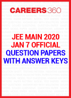 JEE Main 2020 January 7 Official Question Paper with Answer Key