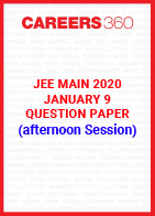 JEE Main 2020 Paper 1 Official Question Paper (Afternoon Session) - January 9