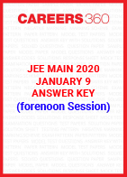 JEE Main 2020 Paper 1 Official Answer Key (Forenoon Session) - January 9
