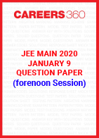 JEE Main 2020 Paper 1 Official Question Paper (Forernoon Session) - January 9