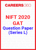 NIFT 2020 GAT Question Paper - Series L