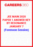 JEE Main 2020 Paper 1 Answer Key by Resonance January 7 (Forenoon Session)