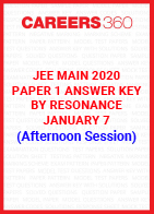 JEE Main 2020 Paper 1 Answer Key by Resonance January 7 (Afternoon Session)