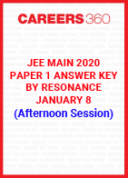 JEE Main 2020 Paper 1 Answer Key by Resonance January 8 (Afternoon Session)