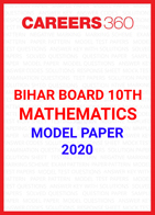 Bihar Board 10th Mathematics Model Paper 2020