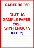 CLAT Sample Paper 2020 with answers Set - 2