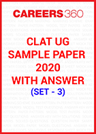 CLAT Sample Paper 2020 with answers Set - 3
