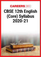 CBSE 12th English (Core) Syllabus 2020-21