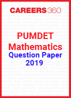 PUMDET Mathematics Question Paper 2019