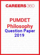 PUMDET Philosophy Question Paper 2019