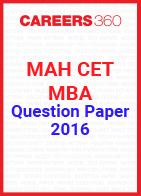 MAH CET MBA 2016 Question Paper