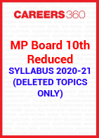 MP Board 10th Reduced Syllabus 2020-21 (Deleted Topics)