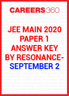 JEE Main 2020 Paper 1 Answer Key by Resonance- September 2
