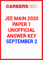 JEE Main 2020 Paper 1 Unofficial Answer Key - September 2