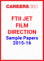 FTII JET Sample Papers 2015-16 Film Direction