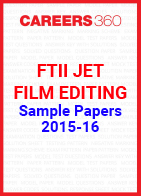 FTII JET Sample Papers 2015-16 Film Editing