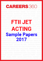 FTII JET Sample Papers Acting 2017