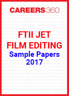 FTII JET Sample Papers Film Editing 2017