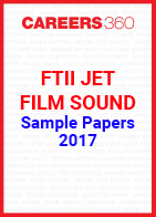 FTII JET Sample Papers Film Sound 2017