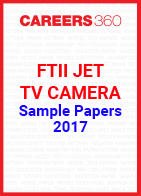 FTII JET Sample Papers TV Camera 2017