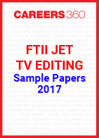 FTII JET Sample Papers TV Editing 2017