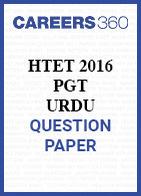 HTET 2016 PGT Urdu question paper
